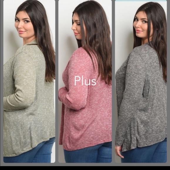 Zenobia Sweaters - NWT Plus size  drape front cardigan
